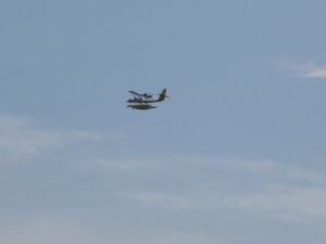Ultralight seaplane buzzing Woodwind II