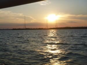 Sunset over Greenbury Point