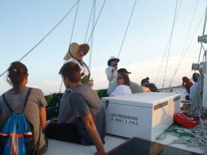 Janet Williman on the Schooner Woodwind