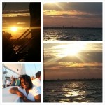Collage of sunset pictures and guests