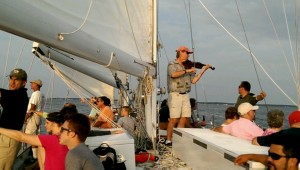 Click picture to play a snippet of fiddle playing under sail!