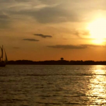 Golden Sunset while sailing the Severn River