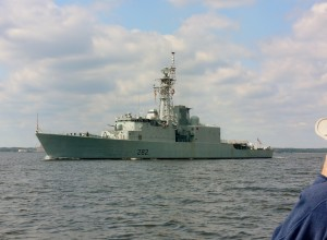 HMCS Athabaskan (DDG 282) is an Iroquois-class (sometimes referred to as Tribal-class) destroyer of the Royal Canadian Navy (RCN).
