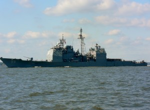 USS Leyte Gulf (CG-55) is a Ticonderoga-class guided missile cruiser.