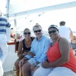 Guests enjoying a fun filled sunny sail