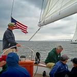 Watching the beginning of the Great Chesapeake Schooner Race