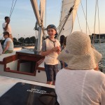 Little boy smiling and enjoying his sail on the schooner