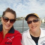 A mother and daughter enjoying a great sail on the schooner