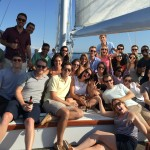 A corporate team outing on a beautiful sunny day