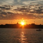 Sunset over Annapolis and water