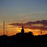 The Annapolis Capital dome at sunset