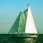 Schooner Woodwind in full sail on a sunny day