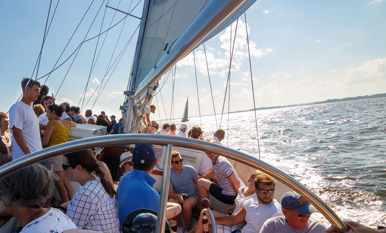 Corporate Sailing Charters on the Schooner Woodwinds