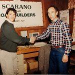 John Scarano and Ken Kaye signing the build contract