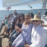 A birthday bash aboard the sailboat and everyone is smiling