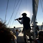 History story teller on Monday night sunset sail