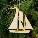 Wooden Woodwind Christmas Ornament