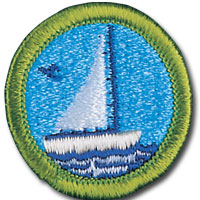 Small boat sailing badge