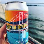 Cold can of Seas the Bay IPA