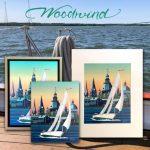 Schooner Woodwind Prints on Canvas
