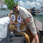 Caddyshack Gopher and Greens Keeper having fun on the boat