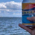 Can of Seas The Bay IPA and the Bay Bridge