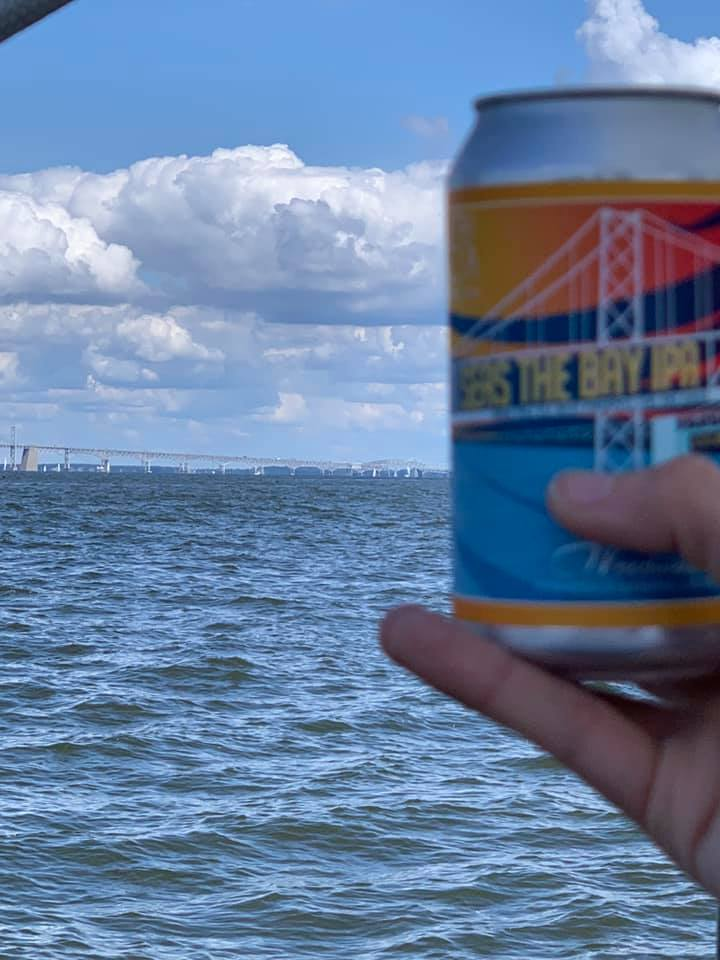 Can of Seas The Bay IPA and the Bay Bridge