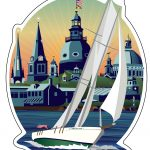 Sticker featuring Schooner Woodwind: Chesapeake Bound artwork