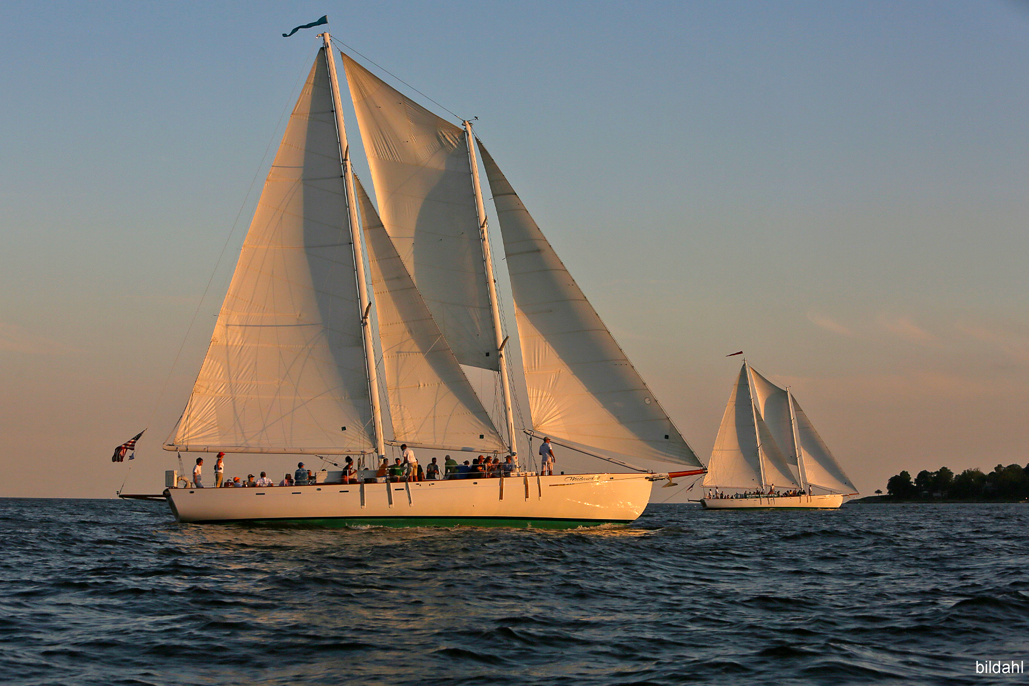 The two Woodwinds sailing side by side
