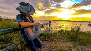 Chris Diller playing guitar