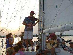 The Eastport Oyster Boys performing on the Woodwind