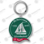 25th Anniversary Key Chain square