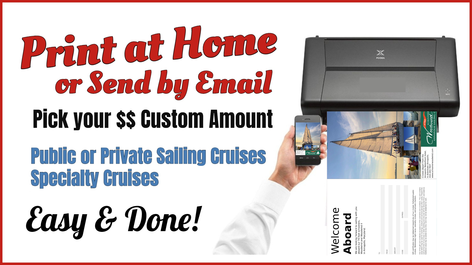 Print at Home Gift Certificates