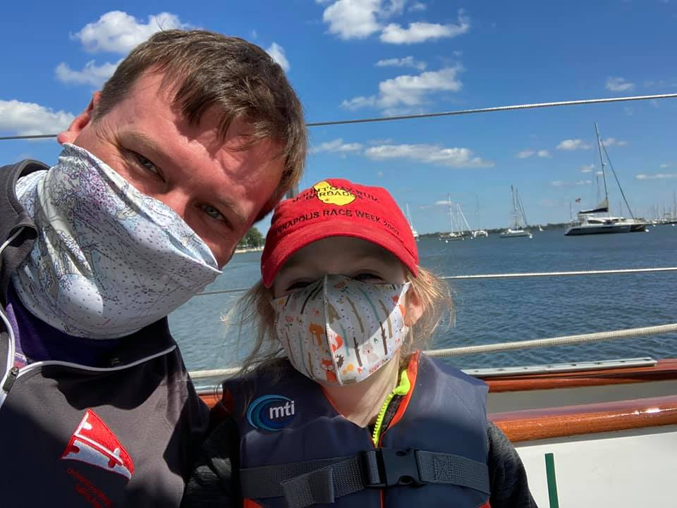 Dad and Daughter aboard